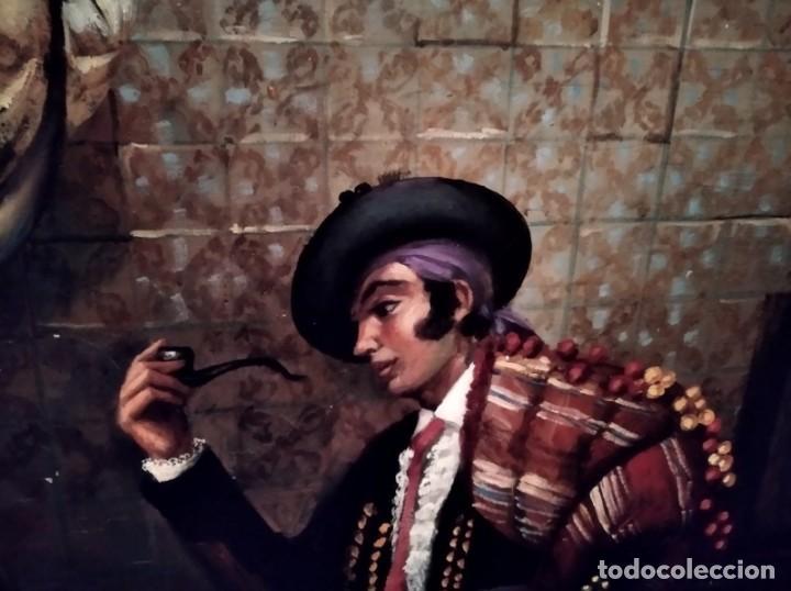 Arte: JOLOGA. TEMA COSTUMBRISTA. LIENZO 150X120. EXTRAORDINARIO MARCO INCLUIDO. - Foto 9 - 194223612