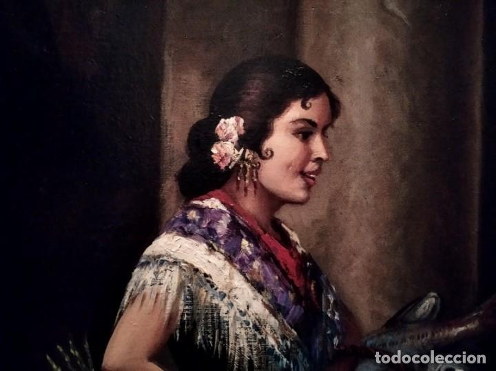 Arte: JOLOGA. TEMA COSTUMBRISTA. LIENZO 150X120. EXTRAORDINARIO MARCO INCLUIDO. - Foto 22 - 194223612