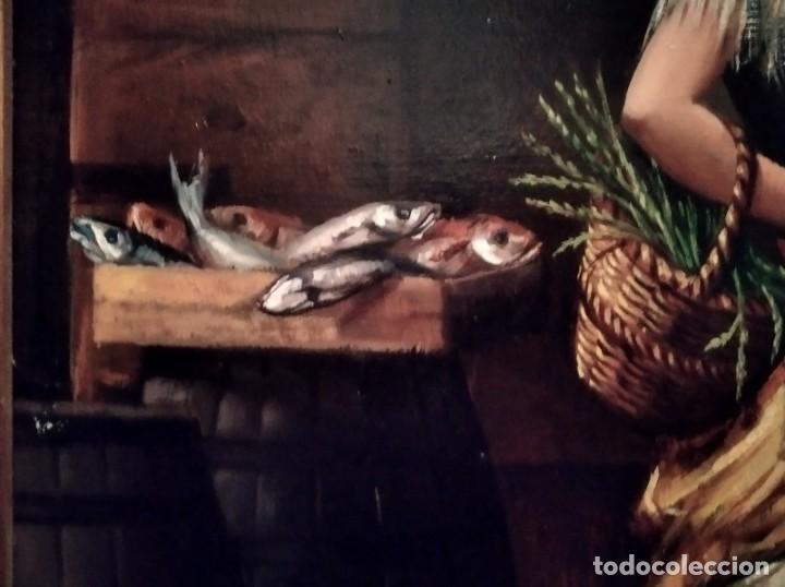 Arte: JOLOGA. TEMA COSTUMBRISTA. LIENZO 150X120. EXTRAORDINARIO MARCO INCLUIDO. - Foto 26 - 194223612