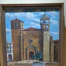 Arte: ESPECTACULAR CUADRO ANTIGUO FIRMADO POR EL PINTOR J.D. TRESPALACIOS. Lote 194224793