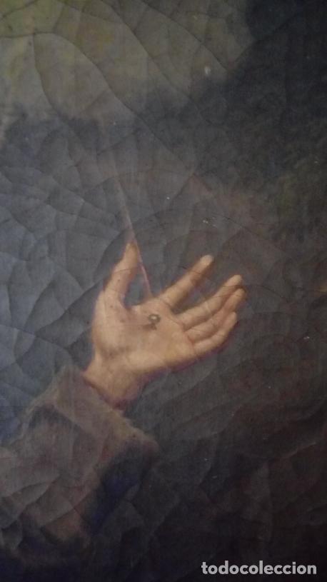 Arte: ÓLEO S/LIENZO S. XVII. SAN FRANCISCO RECIBIENDO LOS ESTIGMAS. CÍRCULO JUAN DE VALDÉS LEAL.82X70 CMS - Foto 7 - 194238880