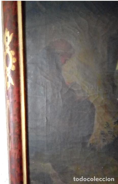 Arte: ÓLEO S/LIENZO S. XVII. SAN FRANCISCO RECIBIENDO LOS ESTIGMAS. CÍRCULO JUAN DE VALDÉS LEAL.82X70 CMS - Foto 10 - 194238880