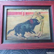 Arte: BONITO CUADRO PINTURA DE ALCALDE MOLINERO DEDICATORIA A JOANITA NADAL. Lote 194239116