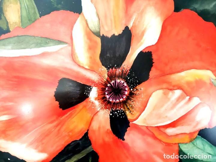 Arte: AMAPOLA LINDISIMA AMAPOLA M.SOS ACUARELA - Foto 2 - 194242251
