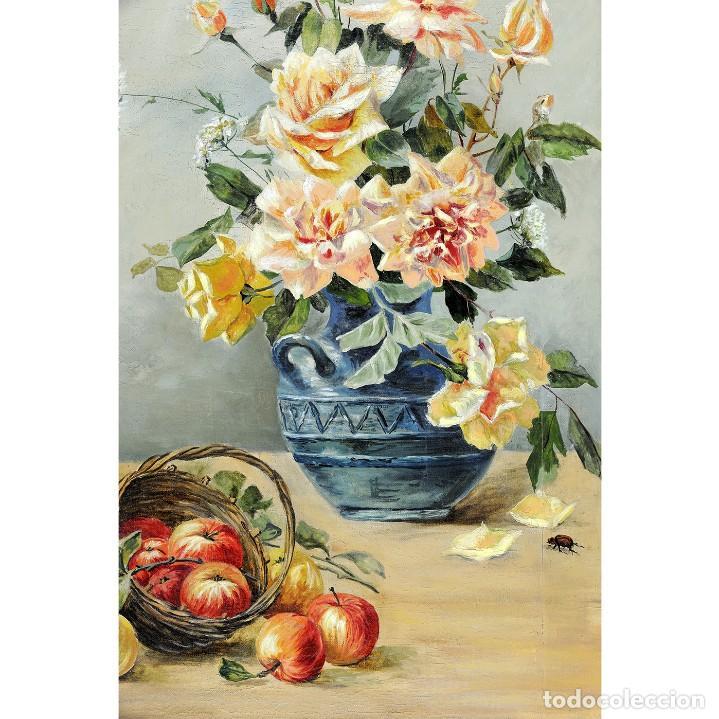 Arte: ESCUELA ESPAÑOLA. Óleo sobre lienzo.Bodegón - Foto 2 - 194263925