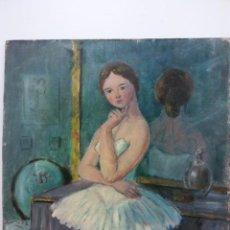 Arte: ORIGINAL. OBRA DE FRANCESC GASSÓ. BAILARINA Y ARTISTA. MEDIDAS 40 X 35. Lote 194271832