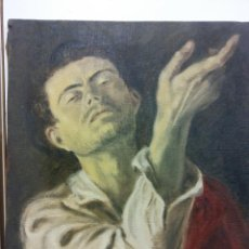 Arte: ORIGINAL. OBRA DE FRANCESC GASSÓ. HOMBRE. MEDIDAS 46 X 37. PINTURA SOBRE LIENZO. Lote 194272043