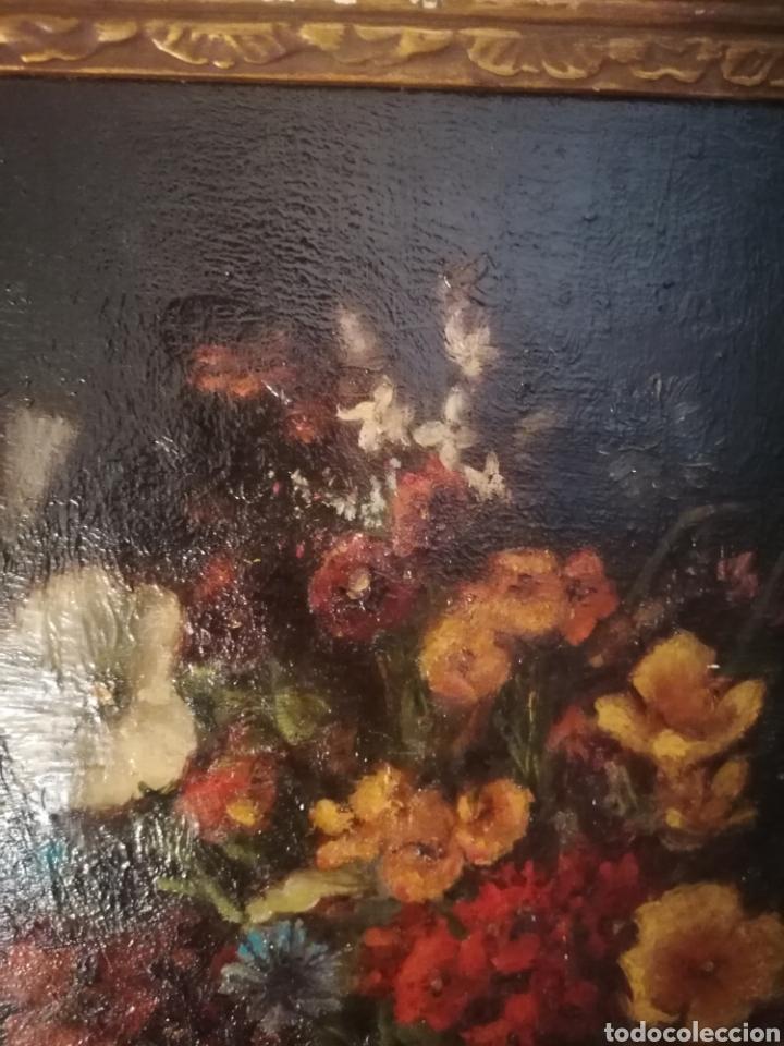 Arte: Bodegon flores ingles firma ilegible 1800 - Foto 12 - 194276382