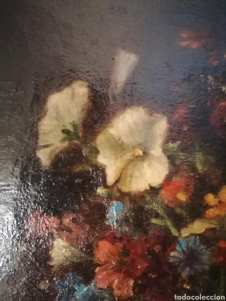 Arte: Bodegon flores ingles firma ilegible 1800 - Foto 14 - 194276382