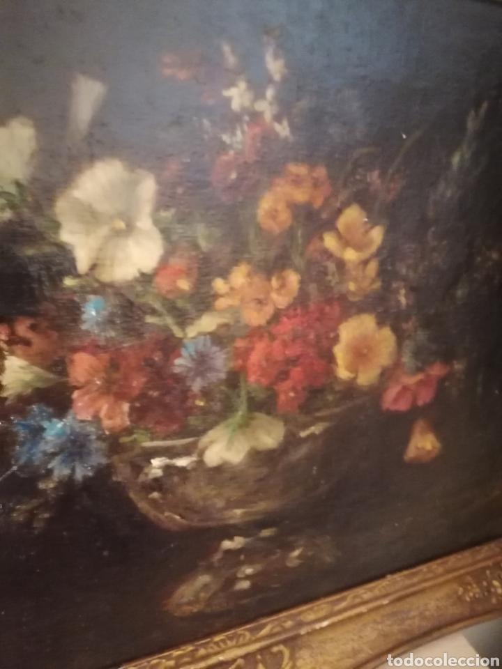 Arte: Bodegon flores ingles firma ilegible 1800 - Foto 16 - 194276382