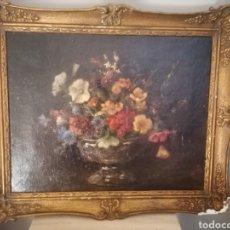 Arte: BODEGON FLORES INGLES FIRMA ILEGIBLE 1800. Lote 194276382