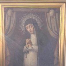 Arte: CUADRO AL ÓLEO MUY ANTIGUO DE LA VIRGEN DE LA PALOMA. Lote 194279720