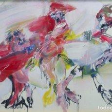 Arte: EDUARDO ROLDÁN. -UNOS CONTRA OTROS SE REVUELVEN- 77 X 107 CM OLEO. 1978;. Lote 194285578