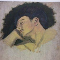 Arte: ORIGINAL. OBRA DE FRANCESC GASSÓ. HOMBRE DURMIENDO. MEDIDAS 40*35. PINTURA SOBRE MADERA. Lote 194285583