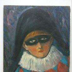 Arte: ORIGINAL. OBRA DE A. SERRANO. ARTISTA. MEDIDAS 40*35. PINTURA SOBRE MADERA. Lote 194286188