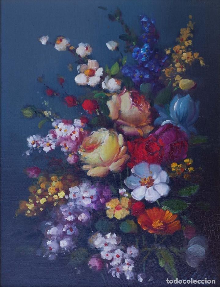 PINTURA AL OLEO DE NATURALEZA MUERTA FIRMADA POR L. LOPEZ (Arte - Pintura - Pintura al Óleo Moderna sin fecha definida)