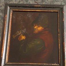 Arte: PINTURA AL ÓLEO SOBRE CRISTAL FIRMADA Y TITULADA , A DOCUMENTAR , S. XVIII - XIX . Lote 194323081