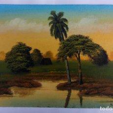Arte: PEQUEÑO OLEO SOBRE TELA CON FIRMA ECHEVARRIA 99 18,5 X 29,5 CM. Lote 194330977