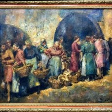 Arte: RAFAEL ESTRANY I ROS (1884-1958) GRAN ÓLEO. Lote 194331660