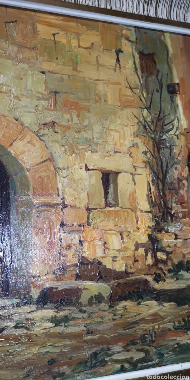 Arte: Óleo sobre lienzo firmado Cerrato podría ser Toledo - Foto 3 - 194332184