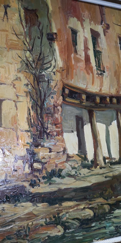 Arte: Óleo sobre lienzo firmado Cerrato podría ser Toledo - Foto 4 - 194332184