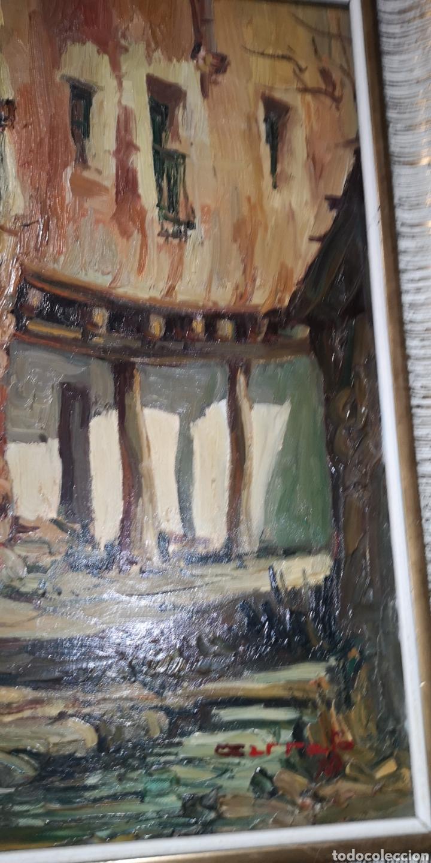 Arte: Óleo sobre lienzo firmado Cerrato podría ser Toledo - Foto 5 - 194332184