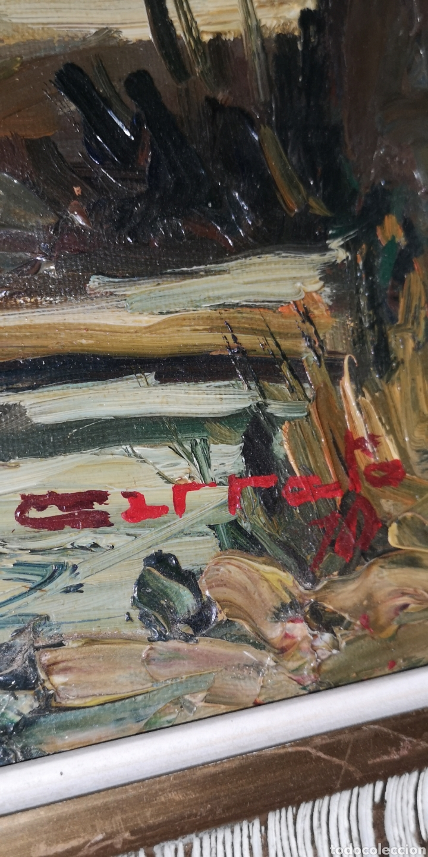Arte: Óleo sobre lienzo firmado Cerrato podría ser Toledo - Foto 6 - 194332184