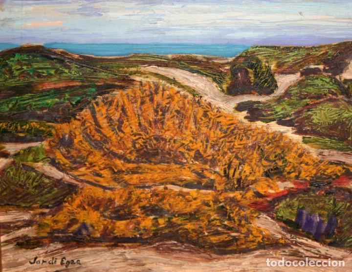 JORDI EGEA (SIGLO XX) OLEO SOBRE TABLA FIRMADO. PAISAJE (Arte - Pintura - Pintura al Óleo Contemporánea )