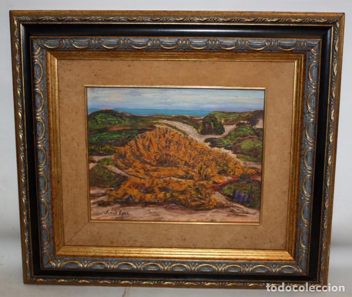 Arte: JORDI EGEA (Siglo xx) OLEO SOBRE TABLA FIRMADO. PAISAJE - Foto 2 - 194351555