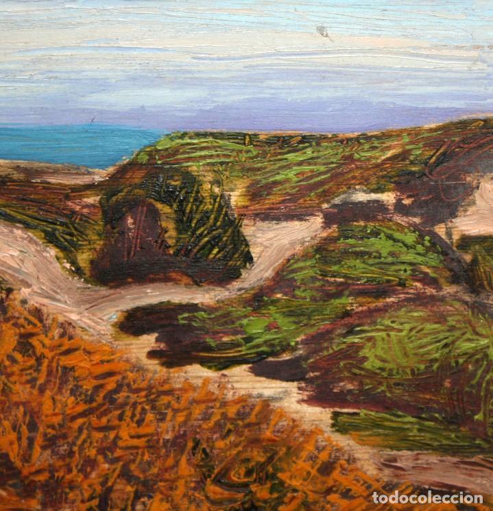 Arte: JORDI EGEA (Siglo xx) OLEO SOBRE TABLA FIRMADO. PAISAJE - Foto 4 - 194351555