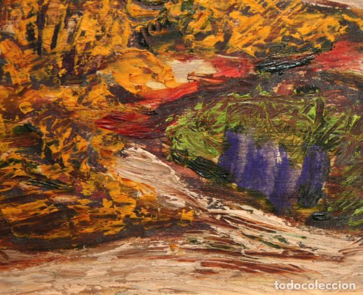 Arte: JORDI EGEA (Siglo xx) OLEO SOBRE TABLA FIRMADO. PAISAJE - Foto 5 - 194351555