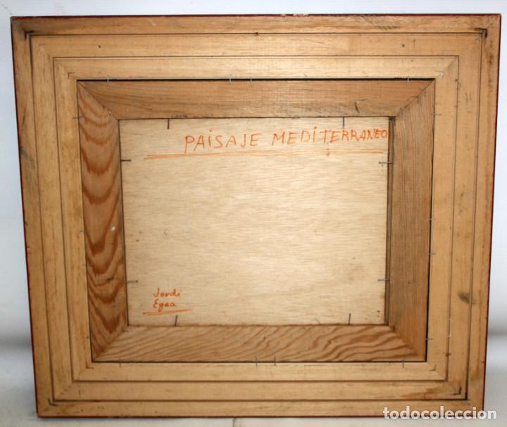 Arte: JORDI EGEA (Siglo xx) OLEO SOBRE TABLA FIRMADO. PAISAJE - Foto 8 - 194351555