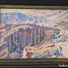 Arte: PAISAJE DELA SIERRA DE GRAZALEMA. ALFONSO DE LA TORRE. Lote 194360858