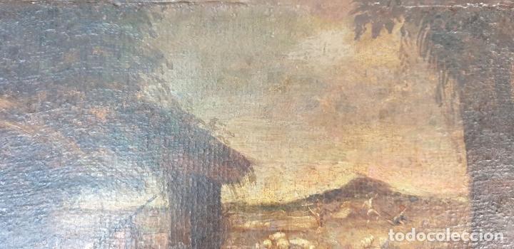 Arte: ADORACIÓN DE LOS PASTORES. O/L. MARCO DE EPOCA. ESCUELA HOLANDESA. SIGLO XVII. - Foto 2 - 194369856