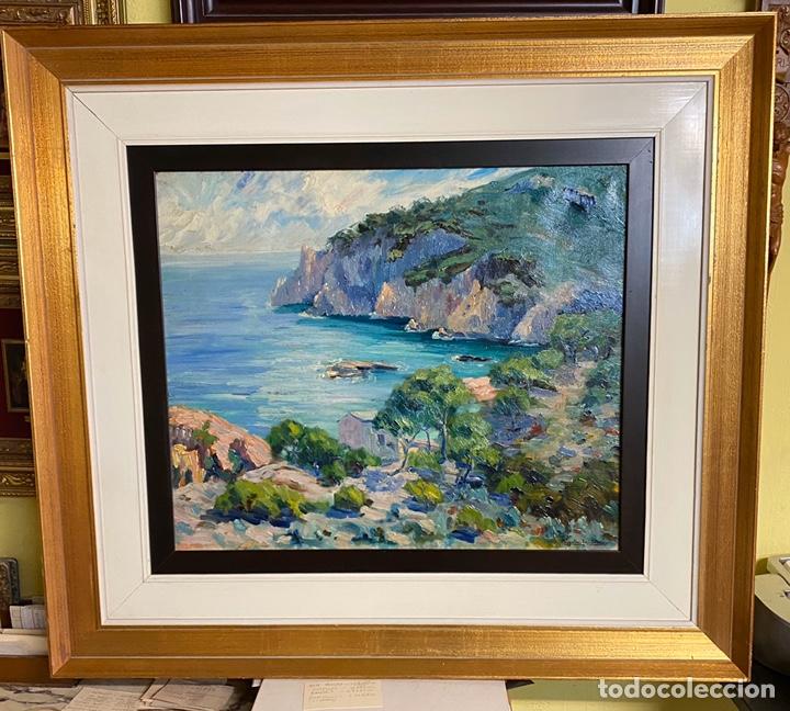 RIGOBERTO SOLER OLEO SOBRE LIENZO MEDIDAS 54X65 CON MARCO 89X100 (Arte - Pintura - Pintura al Óleo Antigua sin fecha definida)