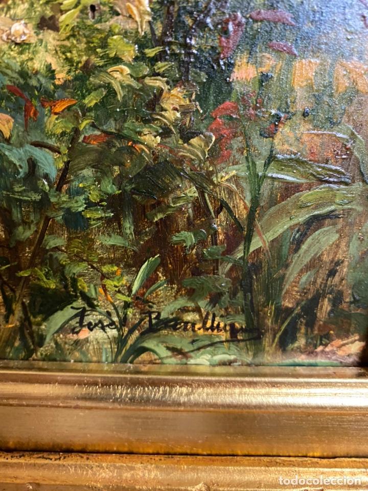 Arte: José benlliure oleo sobre tabla medidas 53x47 con marco 77x68 - Foto 2 - 194385418