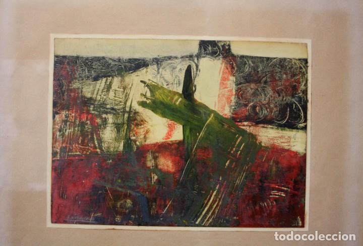 Arte: Alfredo Diaz de Cerio, técnica mixta, firmado, con marco. 25,5x18,5cm - Foto 2 - 194391677