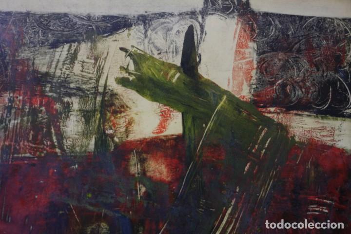 Arte: Alfredo Diaz de Cerio, técnica mixta, firmado, con marco. 25,5x18,5cm - Foto 3 - 194391677