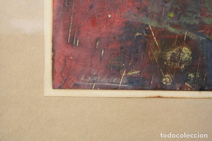 Arte: Alfredo Diaz de Cerio, técnica mixta, firmado, con marco. 25,5x18,5cm - Foto 4 - 194391677