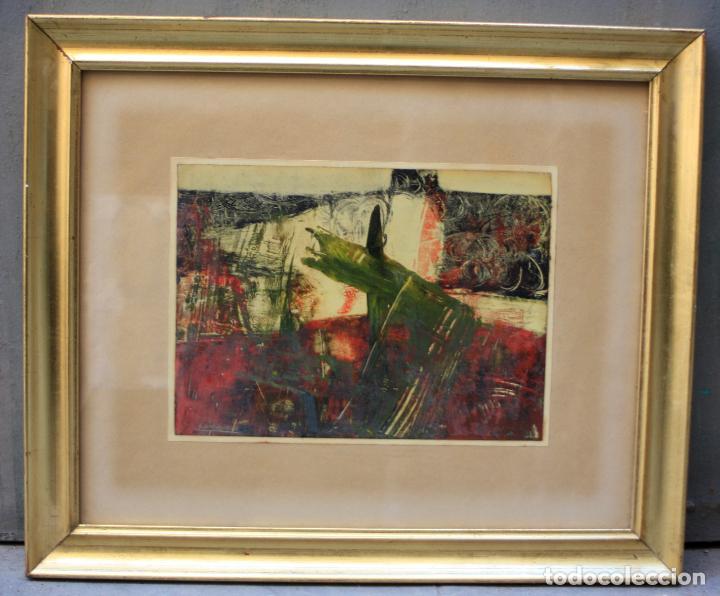 ALFREDO DIAZ DE CERIO, TÉCNICA MIXTA, FIRMADO, CON MARCO. 25,5X18,5CM (Arte - Pintura Directa del Autor)