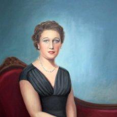 Arte: PEDRO OLIVER RIBALTA (1923 - 2016) OLEO SOBRE TELA. RETRATO FEMENINO. 115 X 90 CM.. Lote 194403901