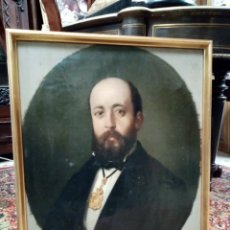 Arte: RETRATO BURGUÉS OLEO LIENZO DE GRAN CALIDAD S. XIX. Lote 194508715