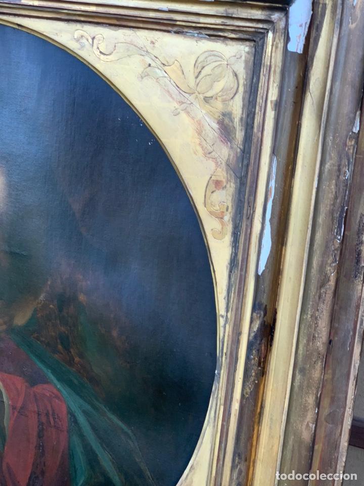 Arte: ÓLEO DE VIRGEN CON NIÑO CON ESPECTACULAR MARCO. SIGLO XIX - Foto 23 - 194511917