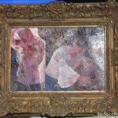 Arte: OLEO SOBRE LIENZO -MUCHACHAS EN EL JARDÍN- POR JOAN BELTRAN BOFILL [1939-2009]. Lote 194513252