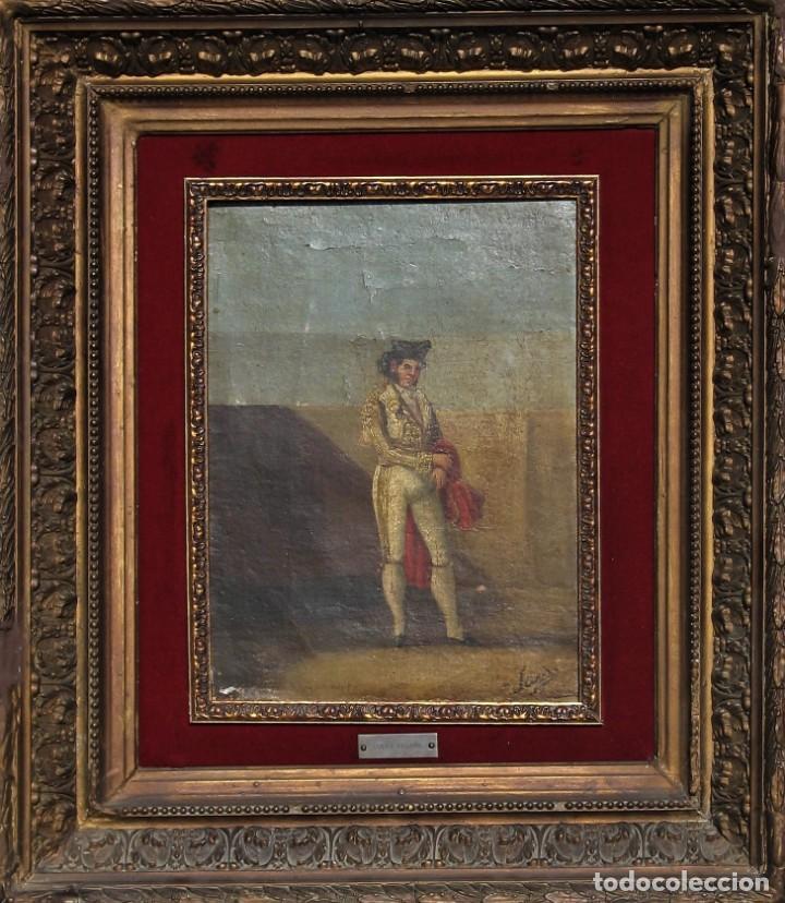 OLEO SOBRE TABLA -TORERO - POR EUGENIO LUCAS VILLAAMIL 1858-1919 (Arte - Pintura - Pintura al Óleo Antigua siglo XVIII)