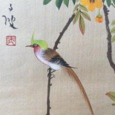Arte: PINTURA JAPONESA SOBRE TELA FIRMADA. Lote 194514757