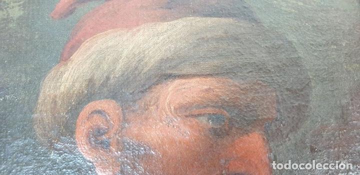Arte: RETRATO DE HOMBRE. ÓLEO SOBRE LIENZO. SIN FIRMAR. SIGLO XVIII-XIX. - Foto 7 - 167779932