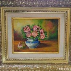 Arte: JARRON CON FLORES. Lote 194517981