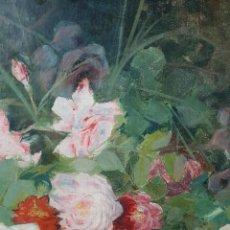 Arte: PRECIOSA PINTURA FLORAL DE CAMACHO. OLEO SOBRE LIENZO, CON FIRMA Y FECHA JEREZ 1893. Lote 194531117