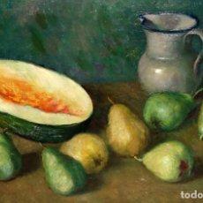 Arte: RAMÓN RIBAS RIUS (BARCELONA, 1903 - 1983) OLEO SOBRE TELA. BODEGON. Lote 194534605